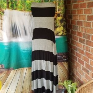 GAP striped maxi skirt & versatile strapless dress